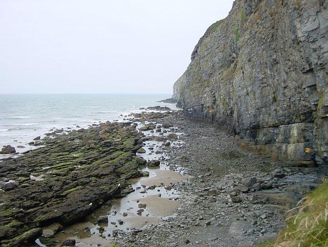 Cliffs near Pendine