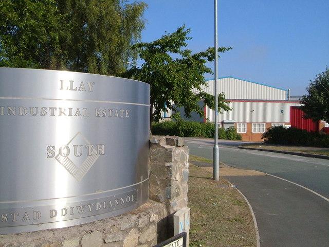 Llay Industrial Estate south