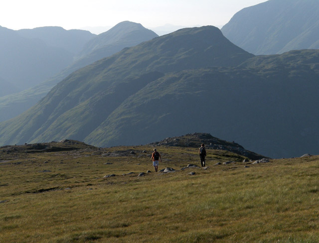 Descending from Meall nan Eun