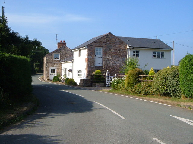Cottages on Chapel Lane, near Llay