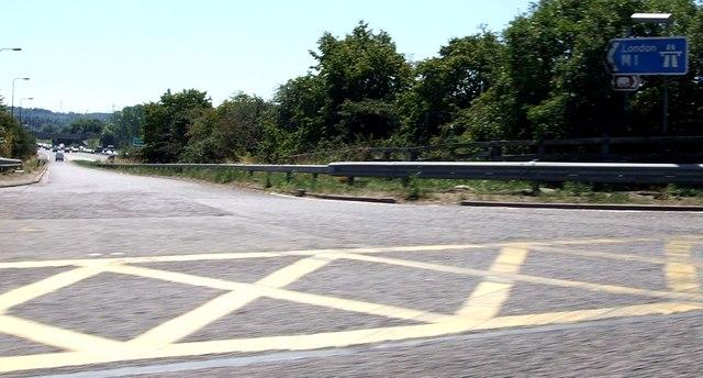 Southbound sliproad M1 Jn 12