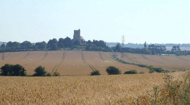 Edlesborough Church across the fields