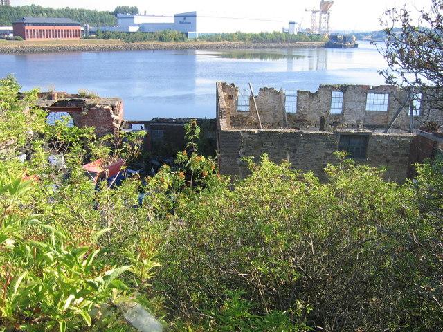 Derelict Industry at Water's Edge