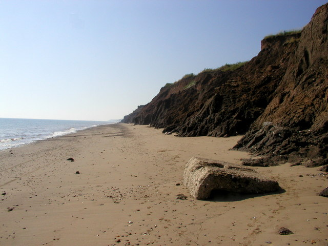 The beach south of Mappleton