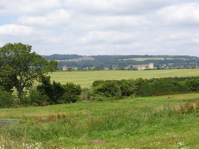 Wells churches from Woodford Farm