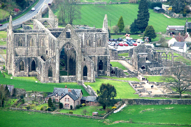 Tintern Abbey from the South East