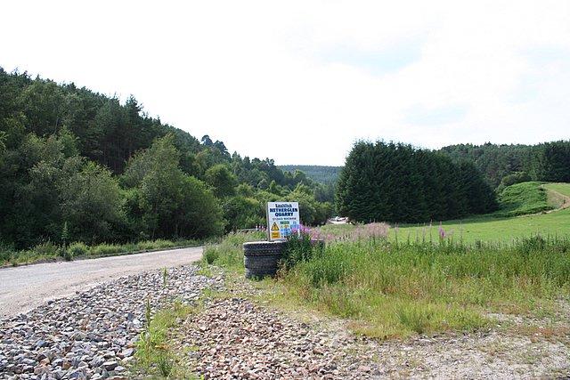 Netherglen Quarry on the A941.