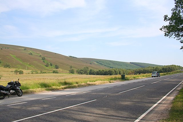 On the A941 north east of Scar Hill