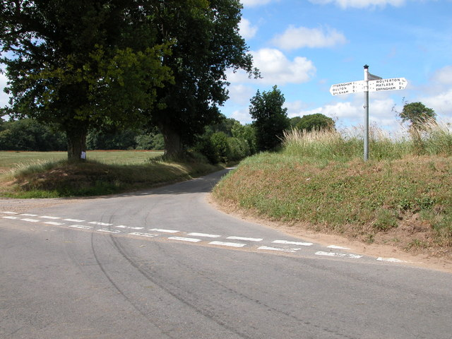 Road junction in Wolterton