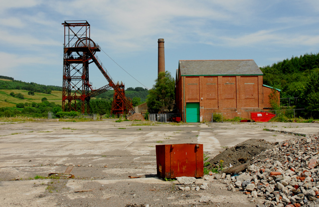 The former Cefn Coed Colliery  (now a Museum)