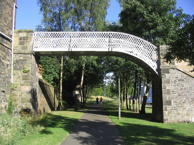 Footbridge in Galashiels over the former Waverley railway line