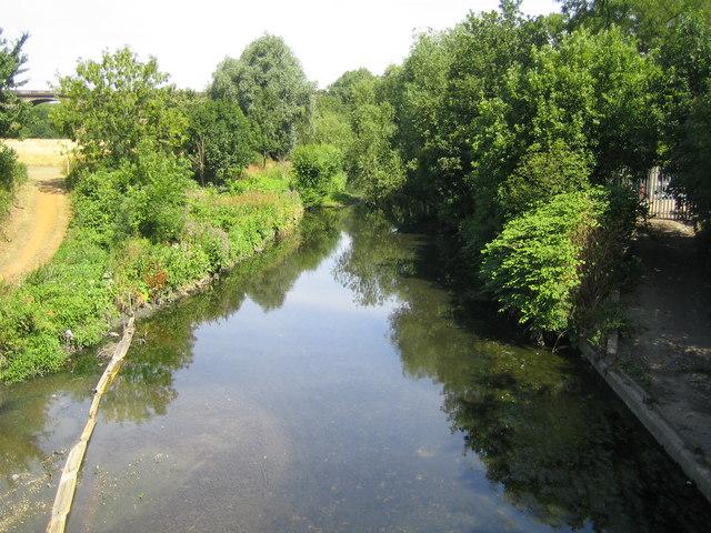River Brent at Hanwell Bridge
