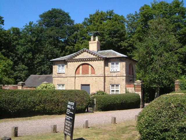 Lodge at southwest corner of Chillington estate