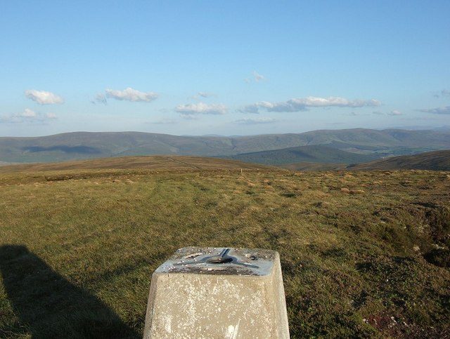 Hills of Cromdale from the summit of Carn na Loine