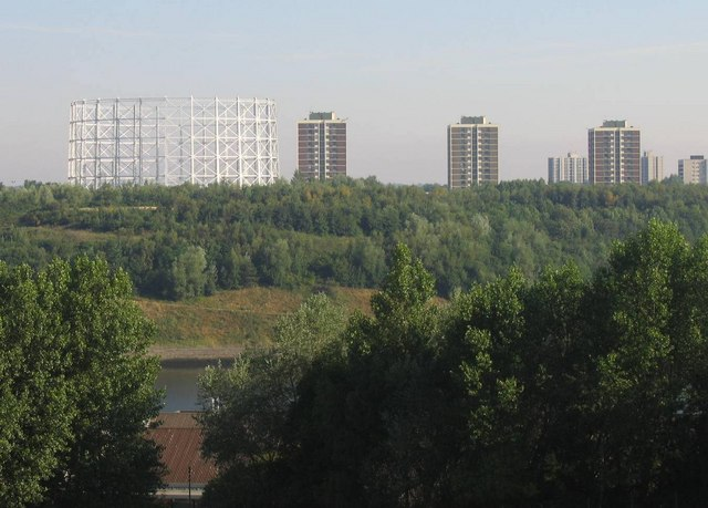 Gas Holder and Tower Blocks in Walker