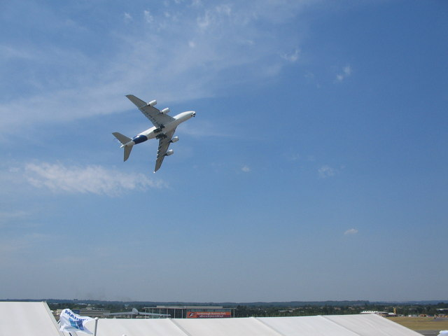 Airbus A380 at Farnborough Airshow 2006