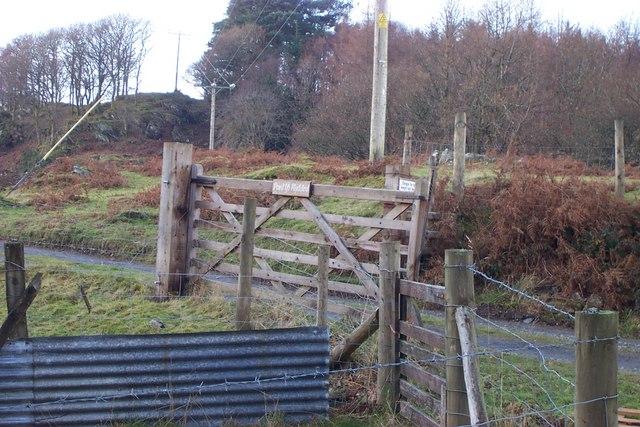 Pant yr Hyddod farm gate entrance