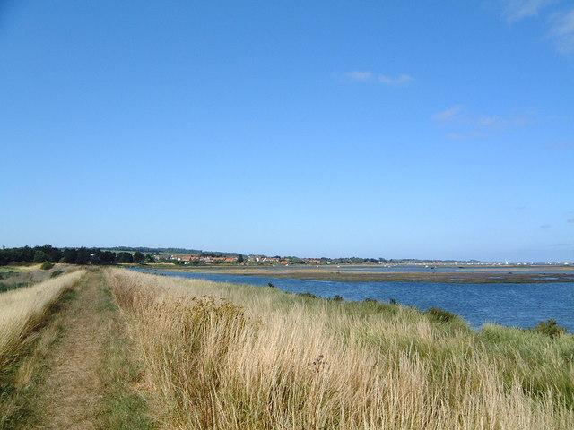 Norfolk coastal path looking towards Burnham Deepdale