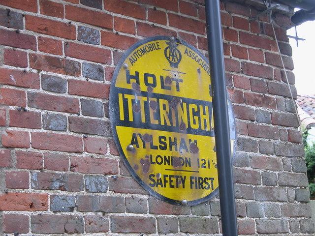 Automobile Association Sign, Itteringham