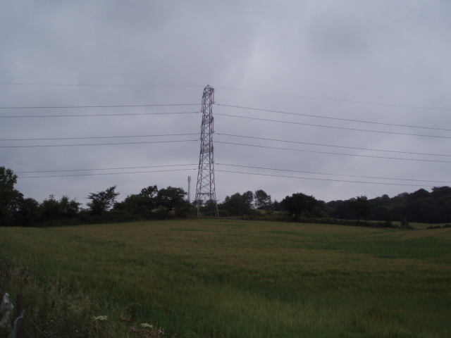 Pylons near Dunipace