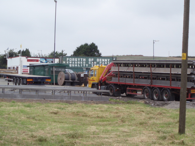 Truckers stop off A872