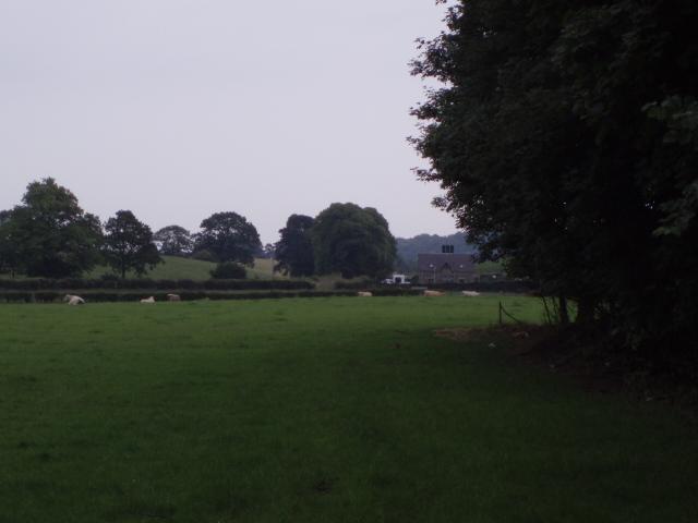 Farmland next to A872