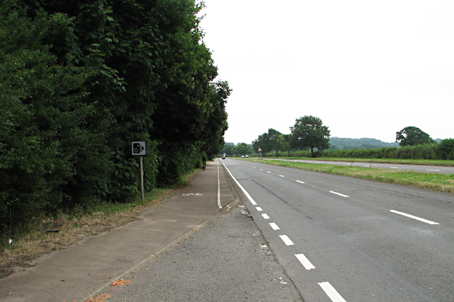 The Dual Carriageway Approaching Crick