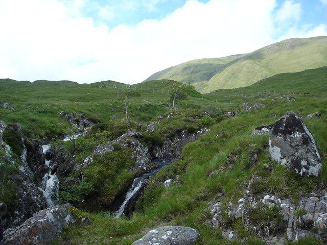 Waterfalls Allt Coire Ghaidheil ,Glen Affric