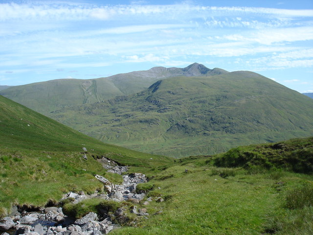 Upper reaches of Allt na Faing on descent to Alltbeithe Youth Hostel