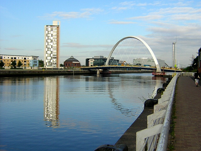 Squinty Bridge over the Clyde