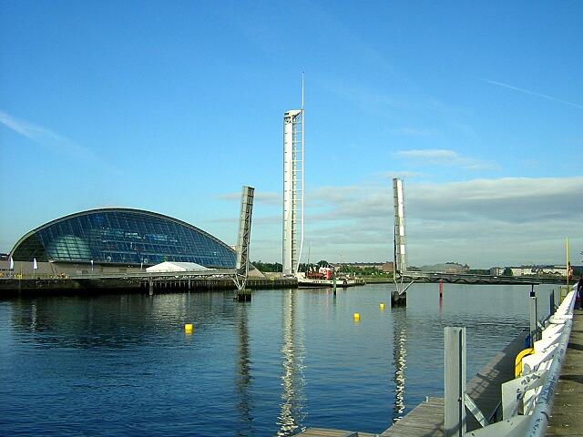 Glasgow Science Centre, Tower, Millennium Bridge and Waverley