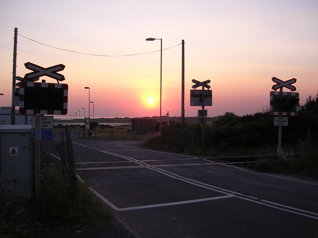 Level Crossing at Sunset