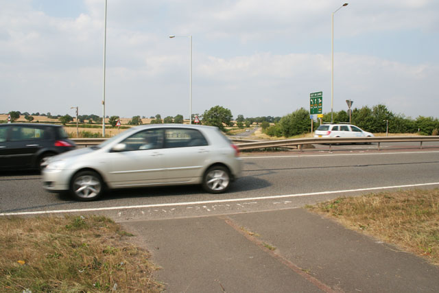 Cycle crossing on the A50