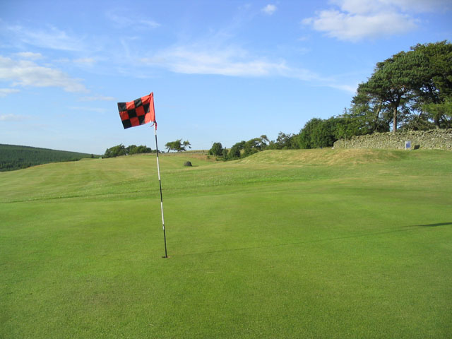 12th green and 13th hole at Galashiels Golf Course