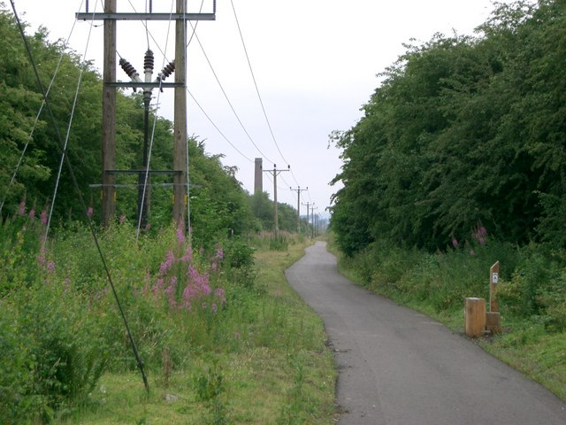 Cycleway and power lines