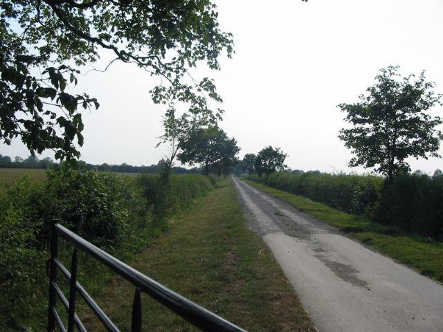 The long driveway to Pickering Low Carr Farm