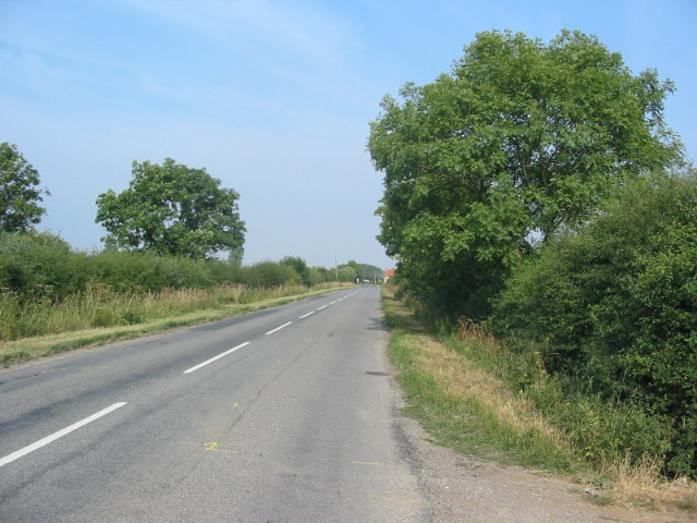 The road from Kirby Misperton approaching the A169