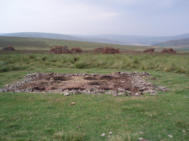 Dismantled building and felled plantation.