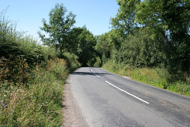 Road between Hetton and Flasby