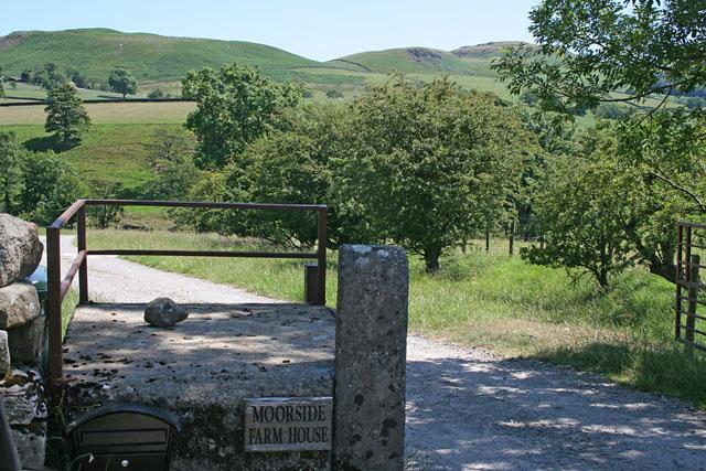 Entrance to Moor Side Farm, near Flasby