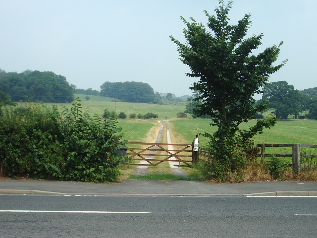 The gate and road to Shackerley