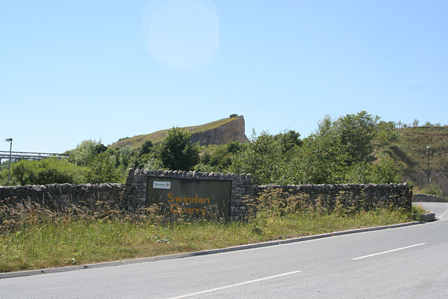 Entrance to Swinden Quarry