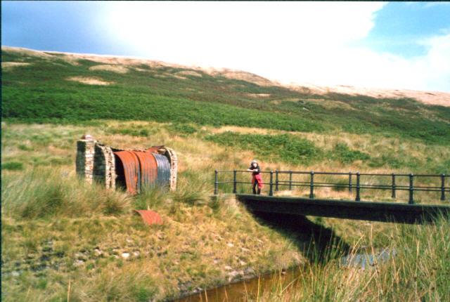 Bridge and workmen's hut