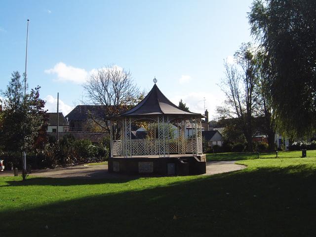 Chepstow - Bandstand in Riverside Gardens