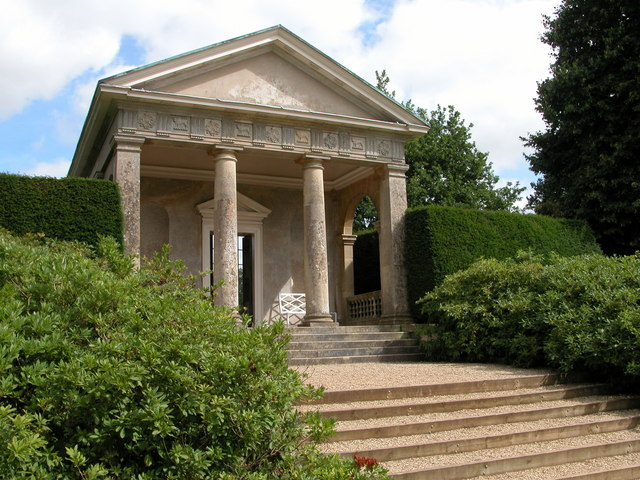 Temple in the grounds of Blicking Hall