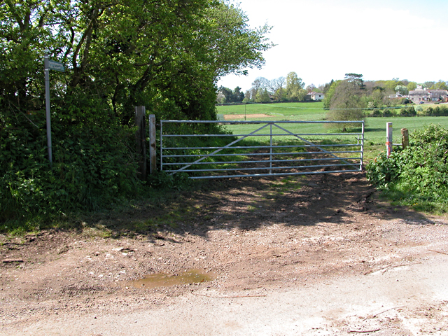 Farm Gate on the Gloucestershire Way
