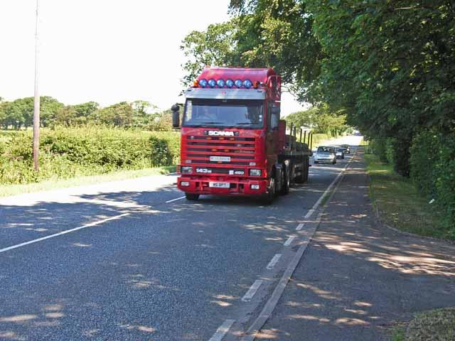 A595 near Orton Grange