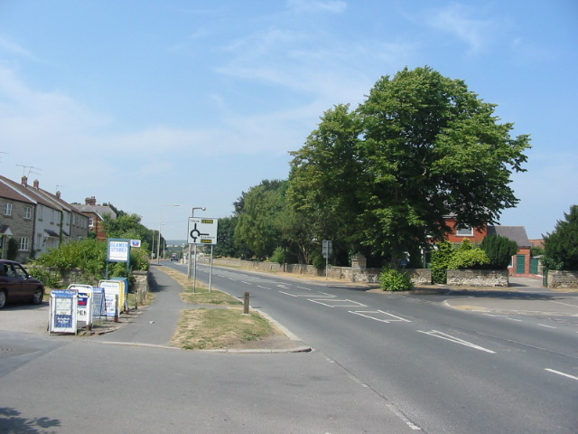 The B1261 road in Seamer Village at Seamer Stores