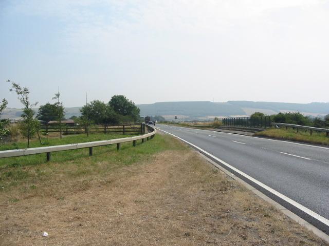 Road bridge on A64 near Carr House Farm
