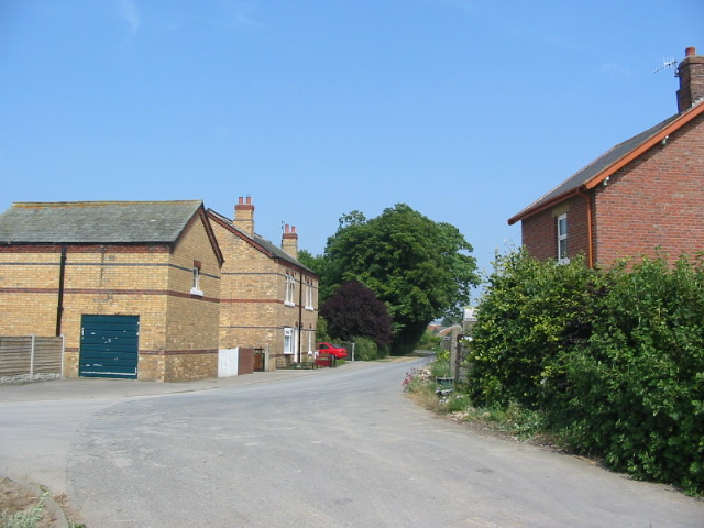 The end of the tarmac road in Irton Village